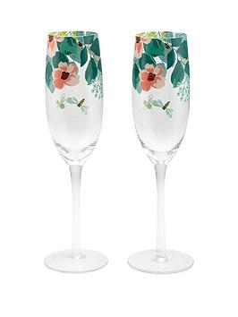 cath-kidston-set-of-2nbspmornington-leaves-champagne-flutes