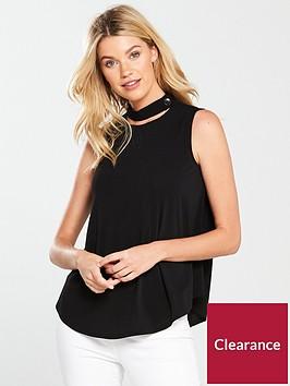 v-by-very-sleeveless-choker-button-detail-top
