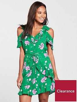 river-island-bright-green-print-dress