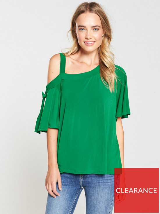 ef03930f537 V by Very Strap One Shoulder Top - Apple Green | very.co.uk
