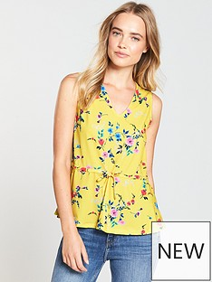 v-by-very-sleeveless-top-yellow-print