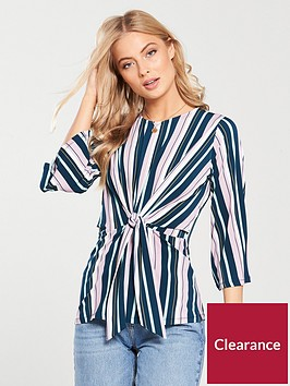 v-by-very-knot-front-top-stripe