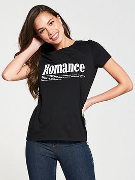 v-by-very-romance-t-shirt-black