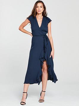 river-island-navy-midi-dress