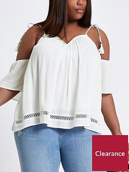 ri-plus-cold-shoulder-top-white