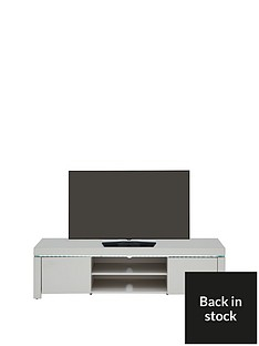 Atlantic High Gloss TV Unit with LED Lights - Grey - fits up to 65 inch TV