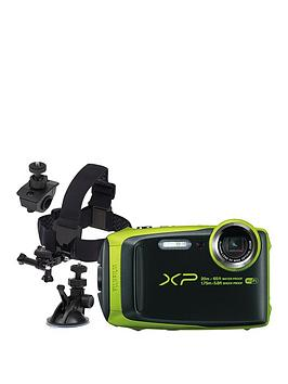 fujifilm-finepix-xp120nbsptough-camera-black-amp-lime-green-cycle-suction-amp-helmet-mounts