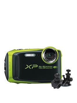 fujifilm-finepix-xp120nbspcamera-withnbspbicycle-andnbsplarge-suction-mounts--nbspblacklime-greennbsp