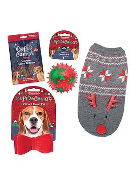 rosewood-dog-christmas-bundle-jumper-large-bow-tie-toy-andnbsptreats
