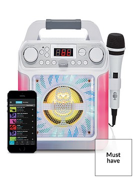 groove-mini-disco-light-mp3g-karaoke-system-with-voice-changer-effects-ndashnbspwhite