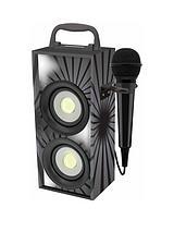 Mini Bluetooth Karaoke Tower with Microphone - Black