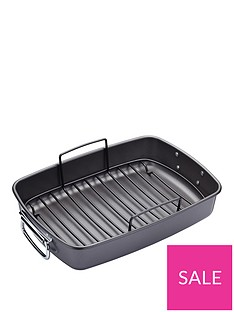 masterclass-large-non-stick-roasting-tray-with-rack