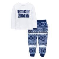 I Dont Need Sleep Fairisle Fleece Pyjama by Mini V By Very