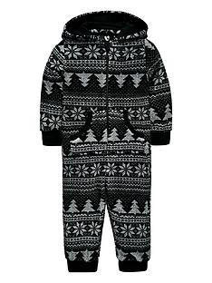 mini-v-by-very-christmas-tree-fairisle-fleece-all-in-one-with-borg-lined-hood