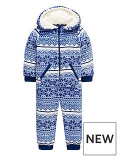 mini-v-by-very-christmas-snowflake-fairisle-fleece-onsie-with-borg-lined-hood