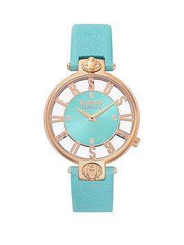 versus-versace-kirstenhof-aqua-and-rose-gold-dial-aqua-leather-strap-ladies-watch