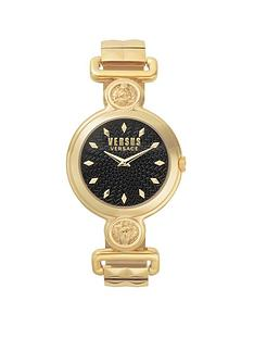 versus-versace-sunnyridge-black-textured-dial-yellow-gold-stainless-steel-bracelet-ladies-watch