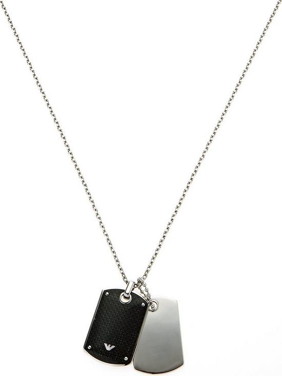 0fa80810 Men's Double Dog Tag Necklace - Silver