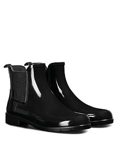 hunter-original-refined-chelsea-gloss-wellington-boots-black