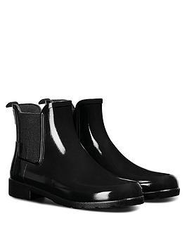 hunter-original-refined-chelsea-gloss-wellington-boots-black