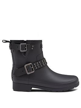 hunter-hunter-refined-stud-biker-wellington-boot