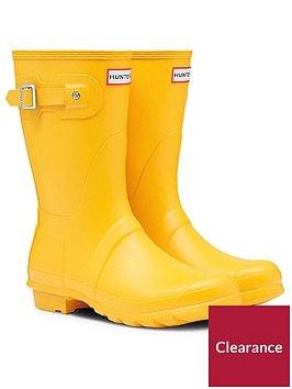 hunter-original-short-wellington-boot-yellow