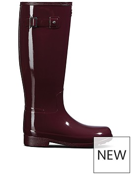 hunter-hunter-refined-wide-fit-gloss-wellington-boot