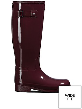 hunter-hunter-refined-wide-fit-gloss-wellington-boot