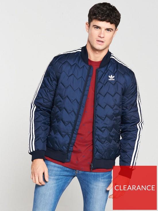 951039e7 adidas Originals Superstar Quilted Jacket - Navy | very.co.uk