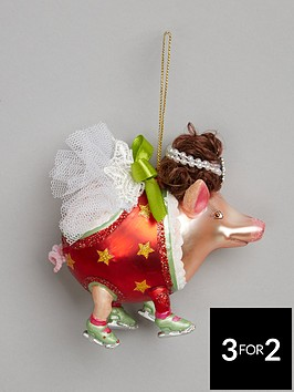 gisela-graham-painted-glass-pig-with-a-wig-tree-dec