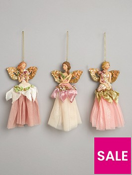 gisela-graham-pastel-angel-christmas-tree-decorations-set-of-3