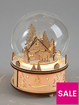 gisela-graham-wood-and-glass-led-snow-globe-christmas-decoration