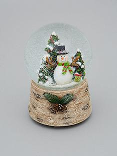 gisela-graham-snowman-musical-snow-globe-christmas-decoration