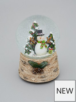 gisela-graham-snowman-musical-snow-globe-christmas-decoration