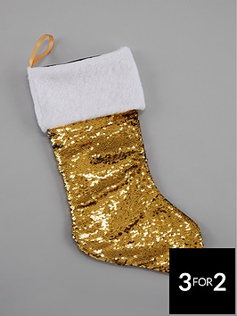 gisela-graham-gold-sequin-colour-changing-stocking
