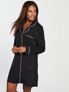v-by-very-jersey-button-nightdress-black