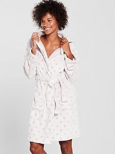 v-by-very-textured-spot-hoodednbspfleece-dressing-gown-pink-spot