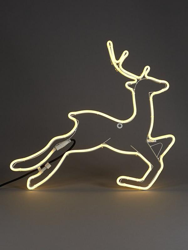 Neon Reindeer Wall Light Outdoor Christmas Decoration