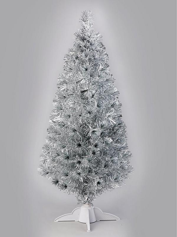 Fiber Optic Christmas Tree.5ft Silver Fibre Optic Christmas Tree