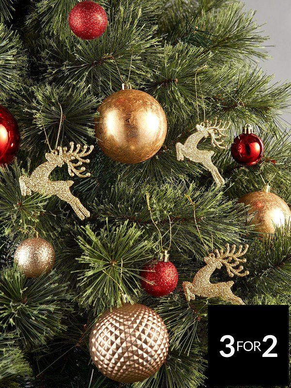 premium selection 91888 ec1ec Pack of 50 Luxe Christmas Tree Baubles – Red and Gold