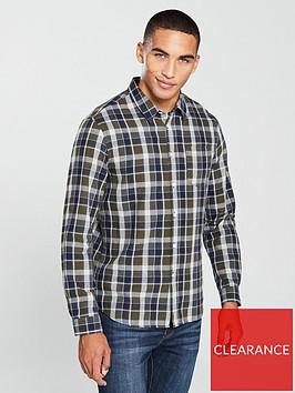 v-by-very-long-sleeved-check-shirt-khaki