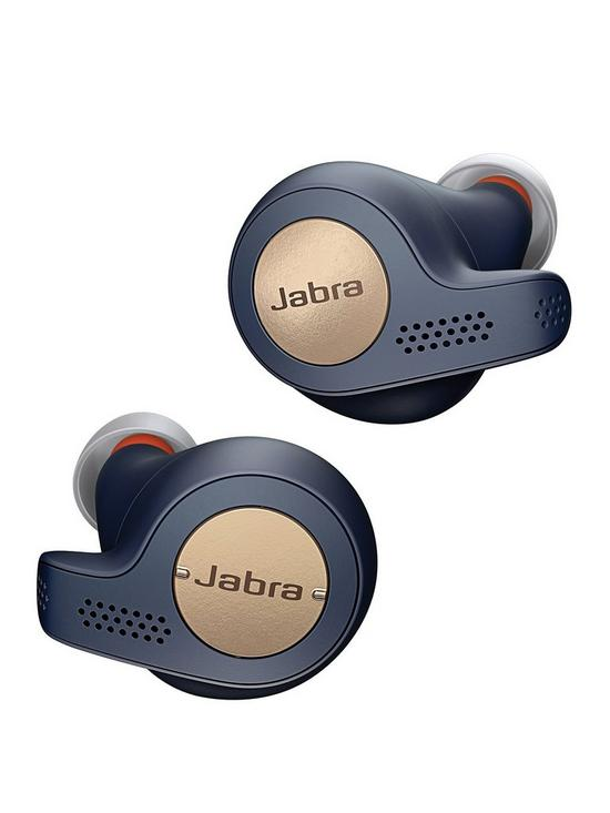 64d9b562ca6 Jabra Elite 65t Active Truly Wireless Sport Earbuds with Bluetooth® and  Sweat Proof IP56 Rating - Blue and Copper