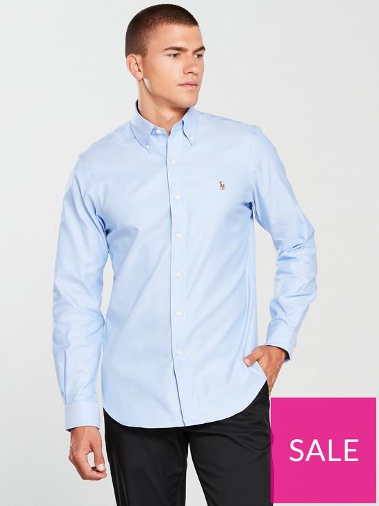 49e9f16007 Polo Ralph Lauren Golf Long Sleeve Oxford Shirt | very.co.uk