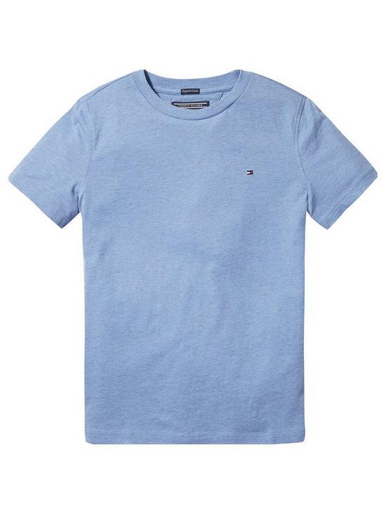 527799d0b Tommy Hilfiger Boys Essential Flag T-Shirt - Dark Grey Heather ...