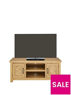 Ideal Home Ready Assembled Parquet TV Unit - fits up to 55 inch TV