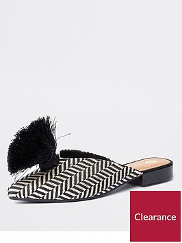 river-island-river-island-pom-zig-zag-print-slip-on-shoes