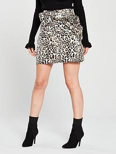 lost-ink-petite-petite-bow-detail-leopard-jacquard-mini-animalnbsp