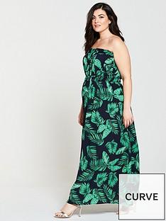 ax-paris-curve-maxi-dress-leaf-print
