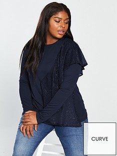lost-ink-plus-swing-top-with-sparkle-frill-navynbsp