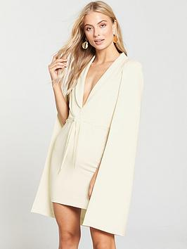 lavish-alice-gathered-tie-waist-cape-dress-cream